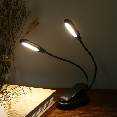 10 LED 2 Light Colors 3 Illumination Modes Table Lamp Desk Light with Clamp Clip Base