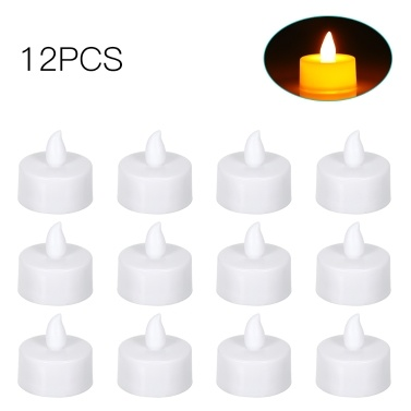 4 Pack LED Flame Flickering Effect Candle Light Lamp