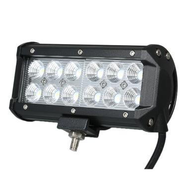 1pcs 36W Car Work Light Bar 6000K Lighting(Spot Beam)