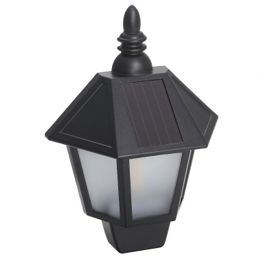 Portable Delicate Outdoor Waterproof Wall Lamp Half Hexagon Solar Blaze Light-Operated Mode Wall Lamp