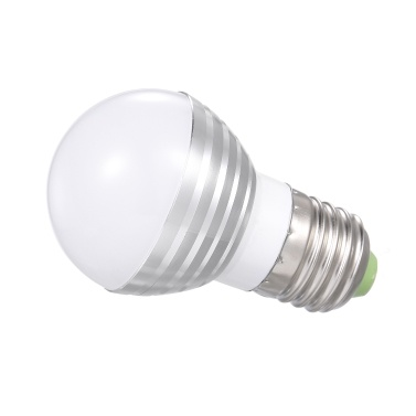 A C 85-265 V 3 W L-ED RGB+ Warm White Bulb with Remote Control Controller