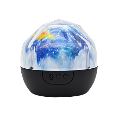 Night Light Projector Kids Children Bedroom 360° Rotating Planet Led Night Lighting Lamp Colorful Starry Universe Ocean Happy Birthday Projector