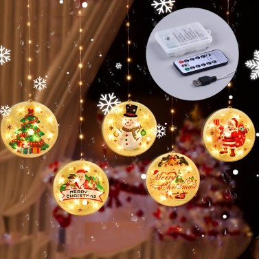 Christmas Hanging Light Waterproof Led Lighting Chains Indoor Outdoor Party Window Tree Decoration String Lamp