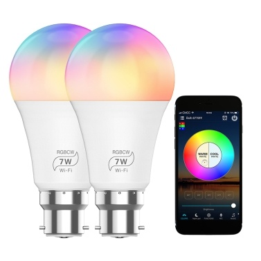 100-264 V 7W Wirelessly WIFI+ BT Connected Connection LEDs Bulb