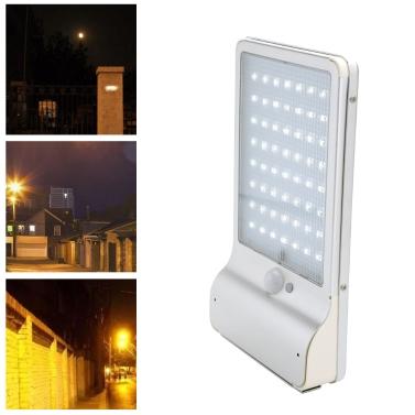 56LEDs Waterproof Battery Solar Remote Control Sense Wall Lamp