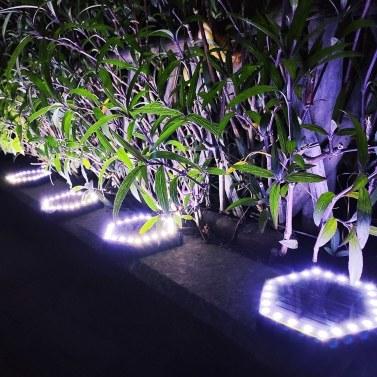 24 LEDs Solar-Bodenlichter Außenlandschaftslampe