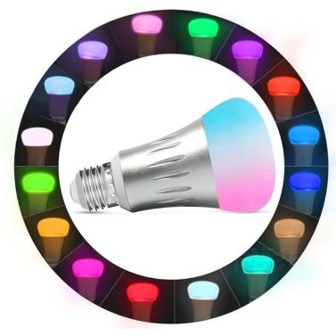 7W E27 RGBW LED WIFI Bulb Smart Light Wireless APP Remote Control + Voice Control