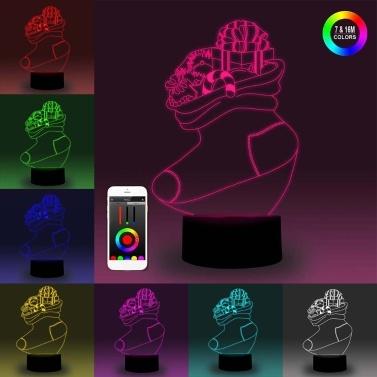 3D Smart Nachtlicht Backboard Illusion LED Lampe 7 Farben Helligkeitsanpassung Dimmbare APP Steuerung