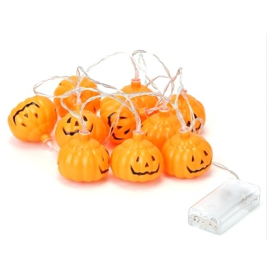 1.5m Halloween 10 LEDs Pumpkin String Lights Lovely Mini Lantern Lamp Home Party Christmas Decors