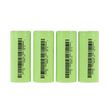 4pcs/lot Soshine IFR 26650 3200mAh 30A 3.2V Rechargeable Flat Top Battery Smart LiFePO4 Environmentally Friendly Battery Pink