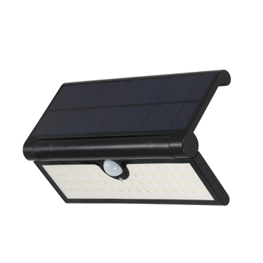 58LEDs Foldable Solar Powered Wall Lamp with PIR Motion Sensor