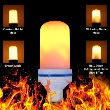 51% OFF AC220V 7W 108 LED Flame Flickering Effect Fire Light Bulb,limited offer $8.39