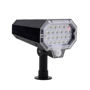 Solarlampe Automatische Drehung Infrarotsensor Rasenlampe Wandleuchte IP65 Wasserdicht für den Garten