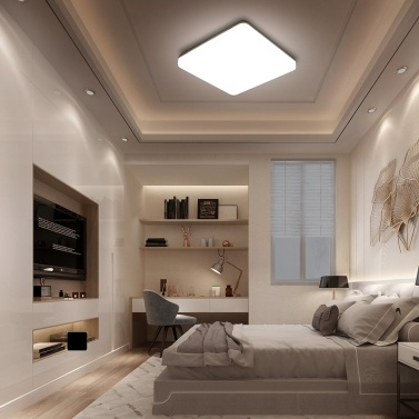 Tomshine 100-265V 24W LED Ceiling Light IP65 Water-resistant 4000k Natural White Lighting for Living Kitchen Balcony Corridor Hallway