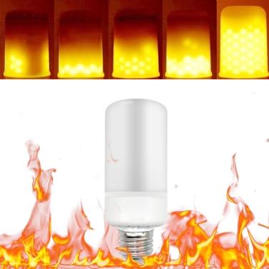 Tomshine LED Flamme Flackern Effekt Feuer Glühbirne 3 Beleuchtung Modi E27 Basis SMD2835 Dekorative Atmosphäre Lampe für Party Urlaub Geburtstagsgeschenk