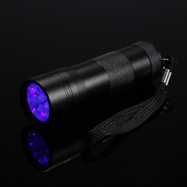 12 LED UV Portable Flash Light