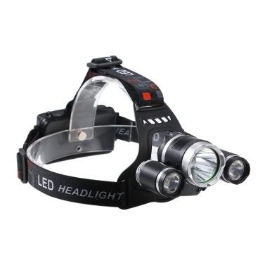 USB wiederaufladbarer 3-Kopf-LED-Scheinwerfer