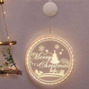 Christmas Hanging Light Indoor Outdoor Festival Party Window Wall Decoration Waterproof Led Lamp