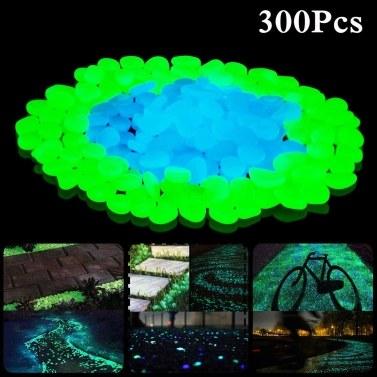 300шт светящиеся камни открытый светящиеся декоративные камни сад двор лужайка светящиеся гальки