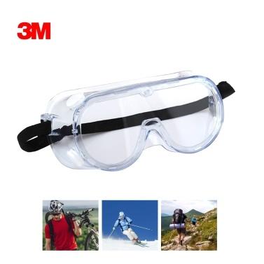 3メートル1621安全メガネ化学スプラッシュゴーグル調節可能なヘッドバンド保護メガネ防曇ゴーグル耐衝撃性レンズ