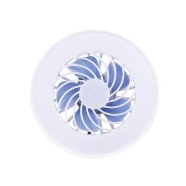 85-220V E27 12W Mini-Lüfterlicht Ventilatorlicht 3 Modi für Schlafzimmer Wohnzimmer Tischlampe Beleuchtung