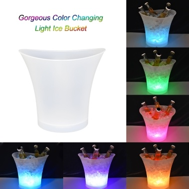 49% OFF 5L 7 Colors LED Light Ice Bucket,limited offer $15.99