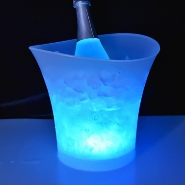 5L 7 Colors LED Light Ice Bucket Champagne Wine Drinks Beer Ice Cooler Bar Party