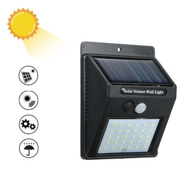 30 diod LED Czujnik światła ruchu PIR Solar Power