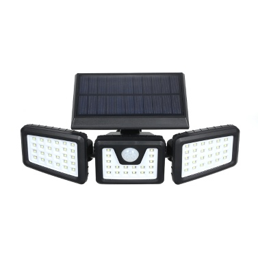 Tragbare Energiesparlampe mit 70 Glühlampen und drei drehbaren Köpfen. Vollautomatische Solarinduktionslampe