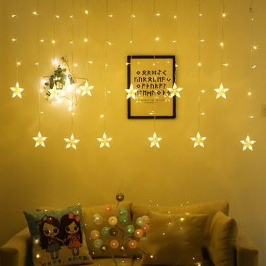 3-M 138 L-EDs Star String Light Home Curtain Decoration Christmas Holiday Party Flashing Light