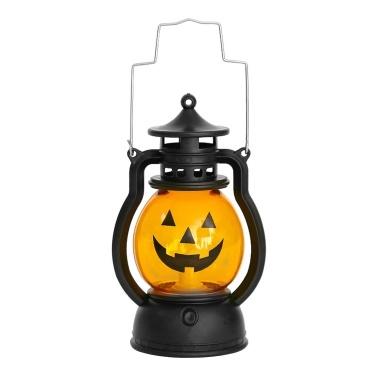 LEDs Pumpkin Design Night Light Beside Lamp Handheld Cell Powered Operated