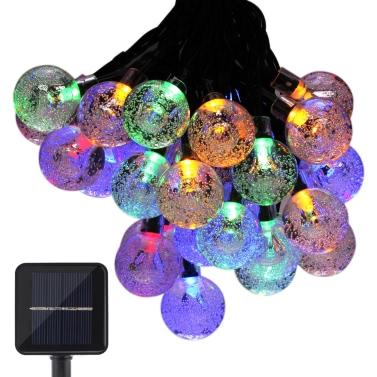 Tomshine Mehrfarben Solar String Kristallkugelleuchten