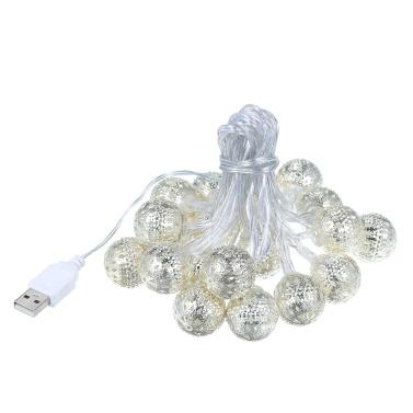 Christmas 2M 20 LEDs String light Moroccan Ball Battery Box String Light