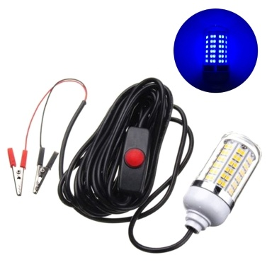 12-24V 5W 108LEDs Underwater Fishing Light Lure Bait Submersible Fish Finder Lamp IP68 with 5m/16.4ft Cord