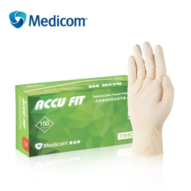 Medicom 1154B 100Pcs Disposable Nitrile Rubber Gloves