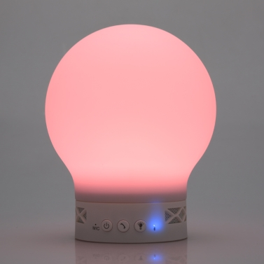 Smart Tiger Wireless BT Music Speaker Sound Box Magic Lamp Color Picker Multicolor Changing LED Lights Support Hands-free Call for iPhone Samsung