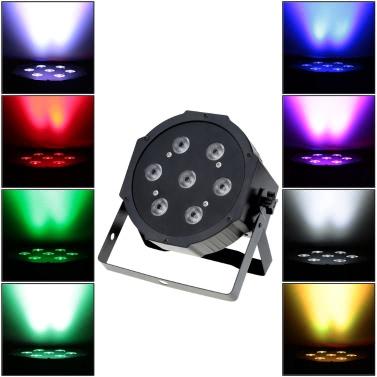 Lixada 70W 4 em 1 RGBW LED Stage PAR Light