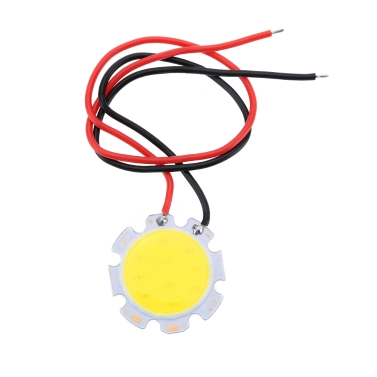 5W 15-17V DC LED Round COB Chip Light Lamp Bulb with Wire High Power High Bright Warm/Nature White