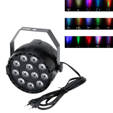 65% OFF Lixada 15W 12LEDs DMX-512 RGBW Stage PAR Light,limited offer $15.99