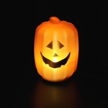 Buy Jack-O-Lanterns 8cm Glowing Led Pumpkin Lamp Halloween Decoration Children Dress Toy Prop