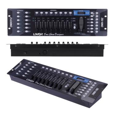 Lixada 192 Canais DMX512 Controller Console para Stage Light