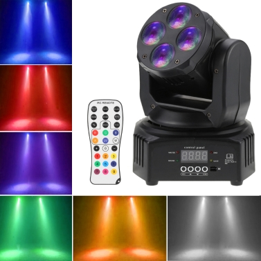 54% off 50W 4 LEDs RGBW Wash Rotating Mo