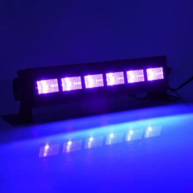 AC100-240V 18W 6 LEDs UV Bar Light Black Lamp