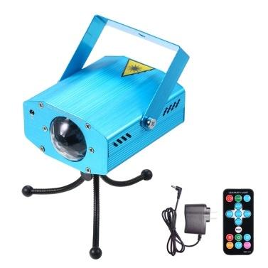 Lixada AC110-240V 5W 3 LED RGB mini LED water wave ripple effect stage lighting fixture