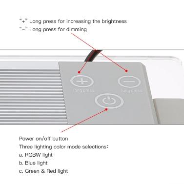 Tomshine 5W 32LEDs RGBW LED Touch Control Aquarium Light