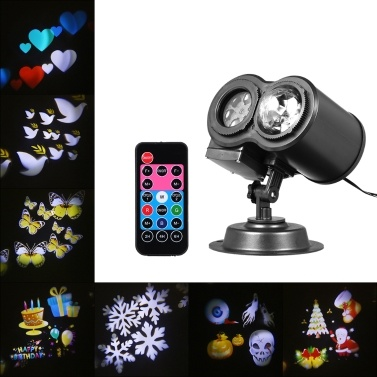 51% de réduction sur le projecteur kaléidoscope à lampe à vague d'eau 2 en 1 avec télécommande seulement € 29,98 sur tomtop.com + livraison gratuite