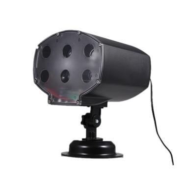 9W LED Schneefall-Licht drehbarer weißer Schneeflocke-Projektor