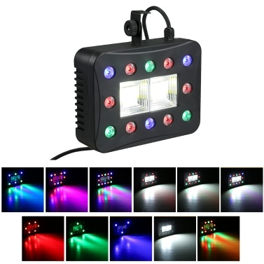 49% de réduction pour 12 + 2 LEDs Mix Strobe Par Lamp DMX Flash Lights Multifunctional Stage Light seulement € 22,77 sur tomtop.com + livraison gratuite
