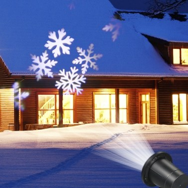 AC110-240V 6W 4 LEDs Snow Flake Projector Projection Light