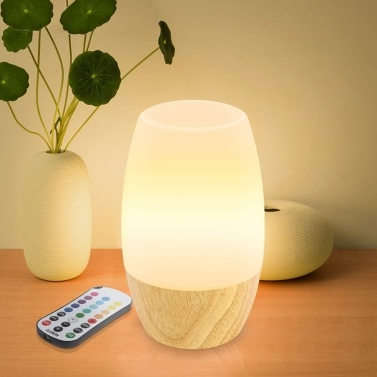 Remote Control Night Sleeping Lamp Wooden Night Light